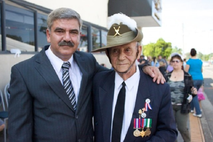 """Exclusive interview"" Anzac Day, with former Australian soldier,  Mr. Gaby Kiwarkis, Sydney 21.4.2013"