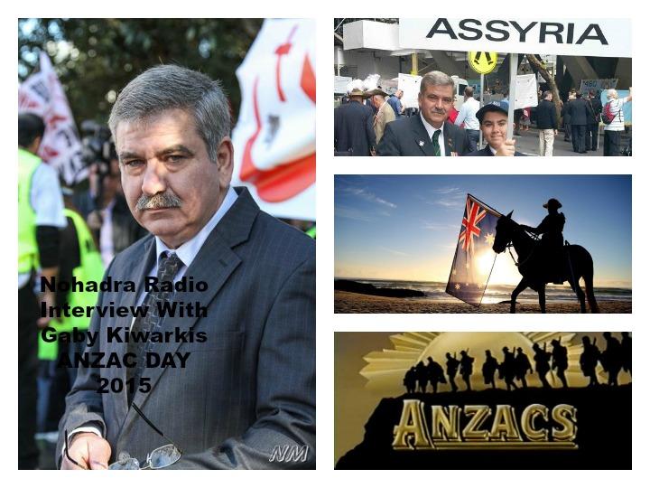 Nohadra Radio Australia Interview With Mr Gabby Kiwarkis Sydney, Spirit of Anzac Centenary 2015